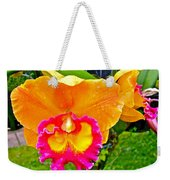 Gold And Pink Orchid At Maerim Orchid Farm In Chiang Mai-thailan Weekender Tote Bag