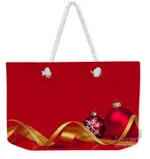 Gold And Red Christmas Decorations Weekender Tote Bag