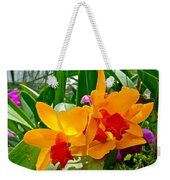 Gold And Red Orchids At Maerim Orchid Farm In Chiang Mai-thailan Weekender Tote Bag