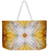 Gold And White Light Mandala Weekender Tote Bag