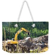 Gold At The End Of The Rainbow Along Taylor Highway-ak Weekender Tote Bag