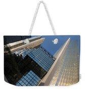 Gold Black And Blue Geometry - Royal Bank Plaza Weekender Tote Bag