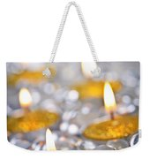 Gold Christmas Candles Weekender Tote Bag