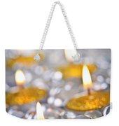 Gold Christmas Candles Weekender Tote Bag by Elena Elisseeva