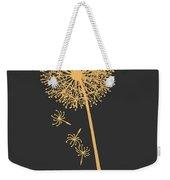 Gold Dandelion Weekender Tote Bag