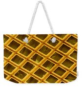 Gold Electron Micrograph Grid Weekender Tote Bag