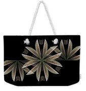 Gold Floral Abstract Weekender Tote Bag