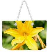 Gold Flower Weekender Tote Bag