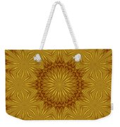 Gold Flowers Weekender Tote Bag