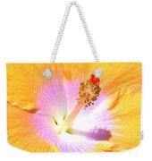 Gold Hibiscus Weekender Tote Bag