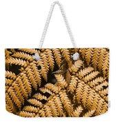 Gold Leaf Fern Weekender Tote Bag