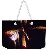Gold Leafy Firework Weekender Tote Bag
