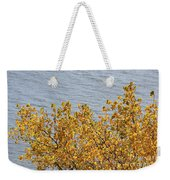 Gold Leaves Weekender Tote Bag