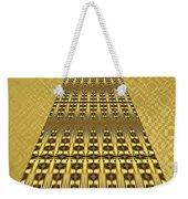 Gold Metallic 9 Weekender Tote Bag