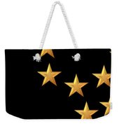 Gold Stars Abstract Triptych Part 2 Weekender Tote Bag by Rose Santuci-Sofranko