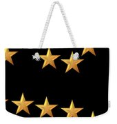 Gold Stars Abstract Triptych Part 3 Weekender Tote Bag by Rose Santuci-Sofranko