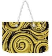 Gold Swirl Weekender Tote Bag