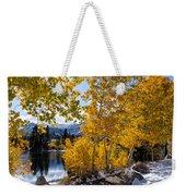 Golden Aspen On The Lake Weekender Tote Bag