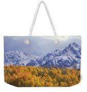 Golden Aspens With Mt. Sneffels Weekender Tote Bag