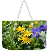 Golden Aster Weekender Tote Bag