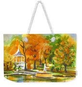 Golden Autumn Day Weekender Tote Bag