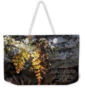 Golden Autumn Fern Weekender Tote Bag