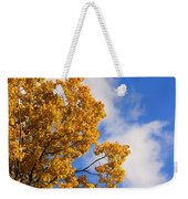 Golden Autumn Leaves And Blue Sky Weekender Tote Bag