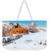 Golden Barn At Sunrise Weekender Tote Bag