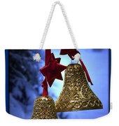 Golden Bells Blue Greeting Card Weekender Tote Bag