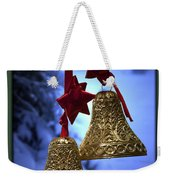 Golden Bells Green Greeting Card Weekender Tote Bag