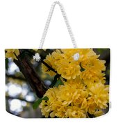 Golden Blooms Two Weekender Tote Bag