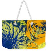 Golden Blossoms Pop Art Weekender Tote Bag
