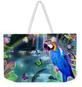 Golden Bluebirds Paradise Version 2 Weekender Tote Bag
