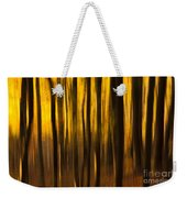 Golden Blur Weekender Tote Bag by Anne Gilbert