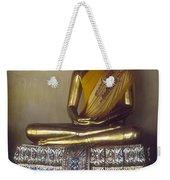 Golden Buddha On Pedestal Weekender Tote Bag