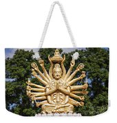 Golden Buddha With Many Arms Weekender Tote Bag
