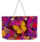 Golden Butterfly Painting Weekender Tote Bag
