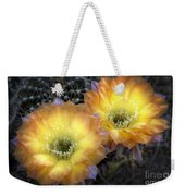 Golden Cactus Flowers  Weekender Tote Bag