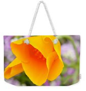 Golden California Poppy Weekender Tote Bag