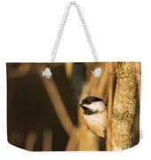Golden Chickadee Weekender Tote Bag