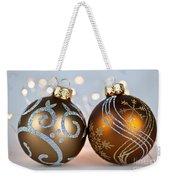 Golden Christmas Ornaments Weekender Tote Bag