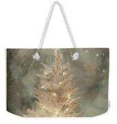Golden Christmas Tree Weekender Tote Bag