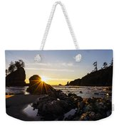 Golden Coastal Sunset Light Weekender Tote Bag