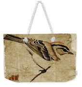 Golden-crowned Kinglet Weekender Tote Bag by Carol Leigh