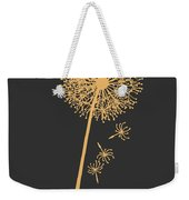 Golden Dandelion Weekender Tote Bag