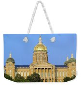 Golden Dome Of Iowa State Capital Weekender Tote Bag