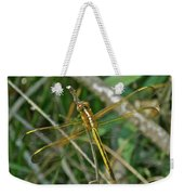 Golden Dragonfly At Rest Weekender Tote Bag