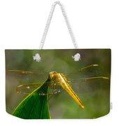 Golden Dragonfly Weekender Tote Bag