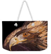 Golden Eagle Close Up Painting By Carolyn Bennett Weekender Tote Bag
