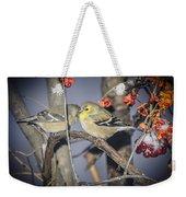 Golden Finch Cold Shoulder Weekender Tote Bag